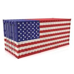 20ft Flag Painted Container