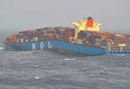 The MV MOL Comfort Container Ship