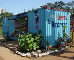 Cuban Conex Container Produce Stand