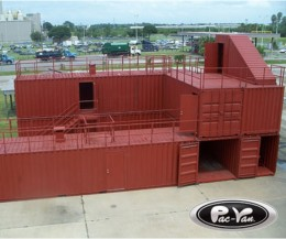 Storage containers used for firefighter training